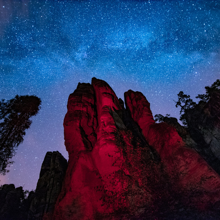 Český ráj v noci